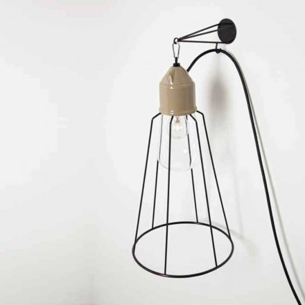 Toscot Novecento terracotta wall sconce with cage