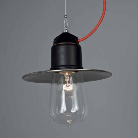 Toscot Novecento handmade single pendant light w/canopy