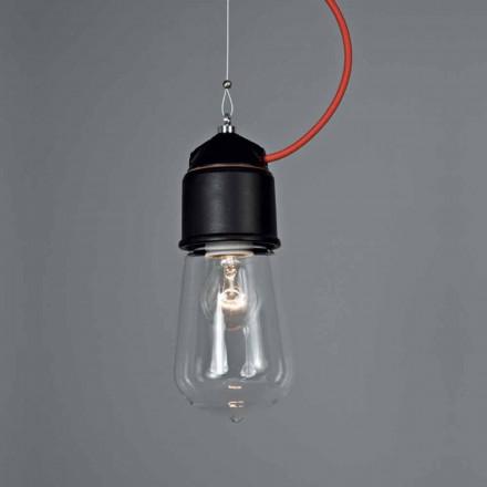 Toscot Novecento handmade single pendant light w/canopy