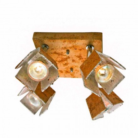 Toscot Piastra ceiling light with 4 directional lights