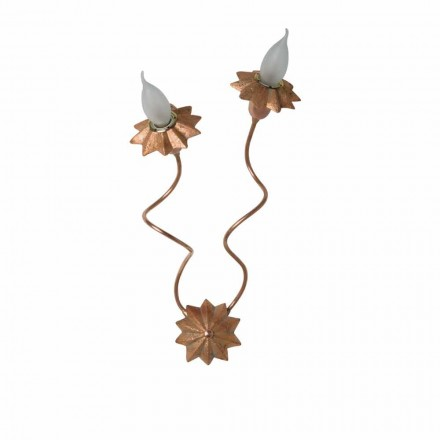Toscot Pienza terracotta wall sconce with 2 flexible arms