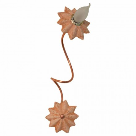 Toscot Pienza terracotta wall sconce with flexible arms