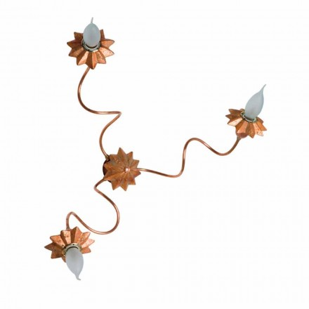 Toscot Pienza terracotta wall sconce with 3 flexible arms