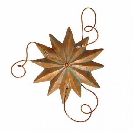 Toscot Pienza terracotta ceiling light with flexible arms