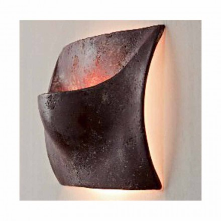 Toscot Puntala Small terracotta wall sconce made in Tuscany