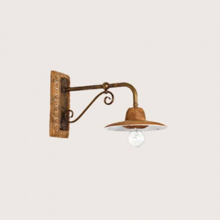 Toscot Spoleto handmade terracotta outdoor wall sconce