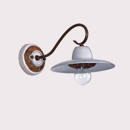Toscot Spoleto terracotta handmade outdoor wall sconce