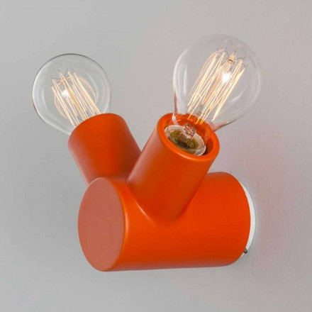 Toscot Traffic ceramic wall light made in Tuscany