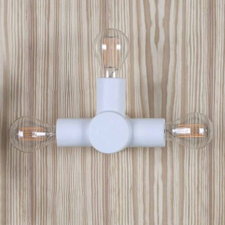 Toscot Traffic wall light with metal base produced in Tuscany