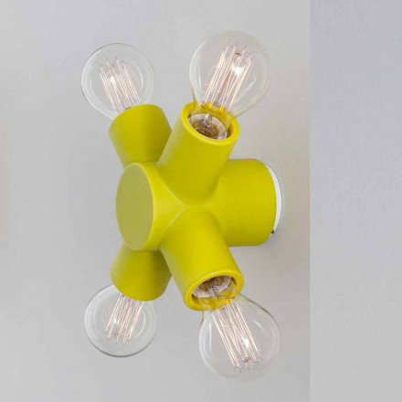 Toscot Traffic ceramic wall lamp produced in Tuscany