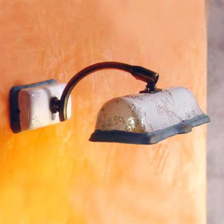 Toscot Vinci handmade terracotta wall sconce made in Tuscany