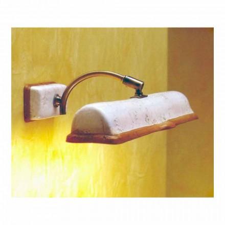 Toscot Vinci handmade terracotta wall lamp 2 lights