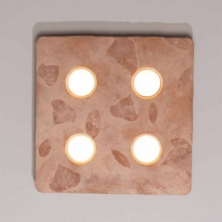 Toscot Vivaldi design wall lamp in terracotta made in Italy