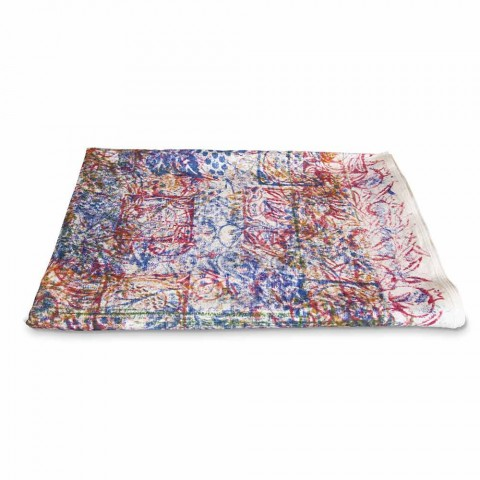 Tablecloth of Italian Art with Hand Printed Cotton One Piece - Brands