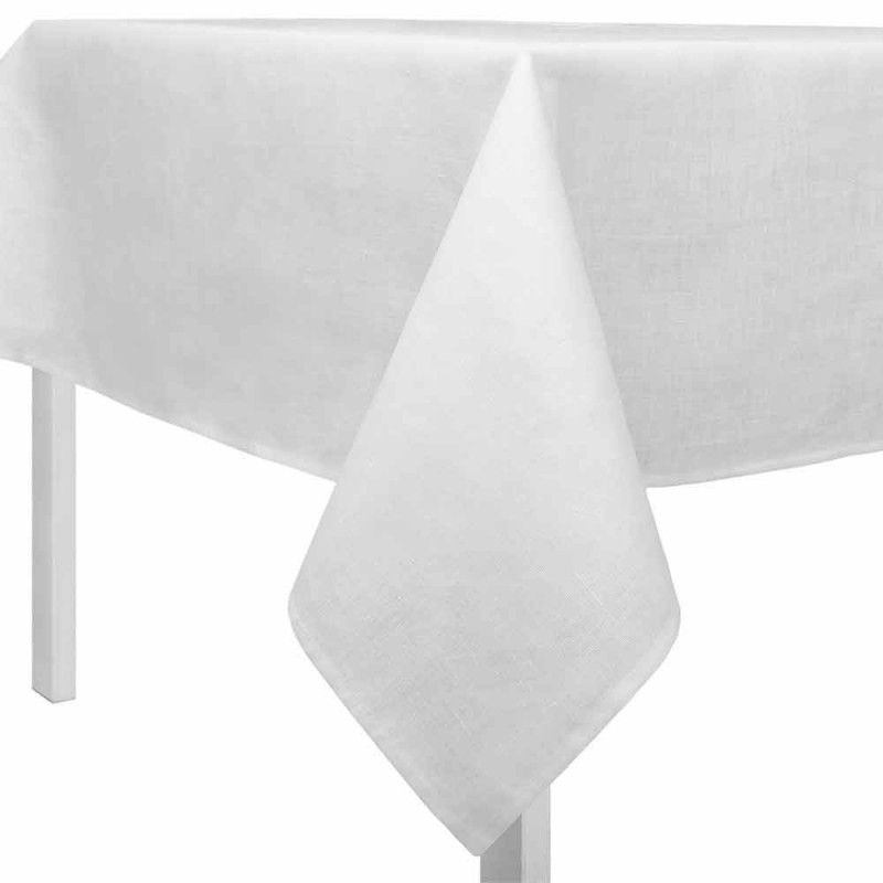 Cream, Rectangular or Square White Linen Tablecloth Made in Italy - Blessy