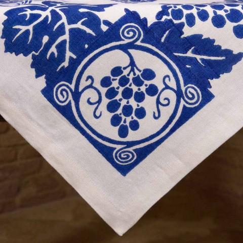 High Artistic Linen Tablecloth with Italian Art Hand Print - Brands