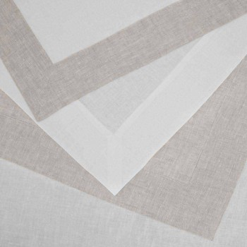 Cream, Rectangular or Square White Linen Tablecloth Made in Italy - Poppy