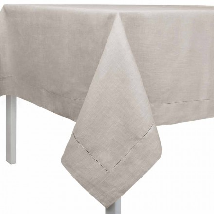 Rectangular or Square Tablecloth in Natural Linen Made in Italy - Chiana