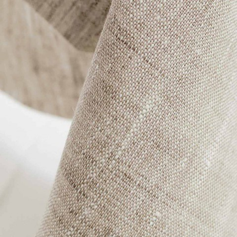 Round Pure Natural Linen Tablecloth Made in Italy - Blessy