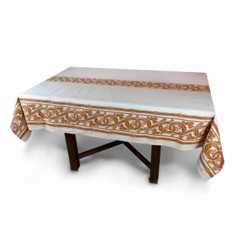 Highly Crafted Italian Printed Cotton and Linen Tablecloth - Brands