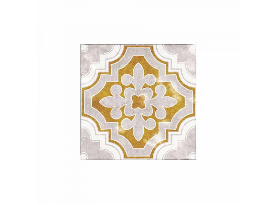 American Placemat in Pvc and Modern Colored Polyester, 6 Pieces - Dorado