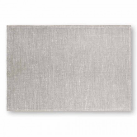 Placemat in Cream White or Natural Linen Made in Italy, 2 pieces - Blessy