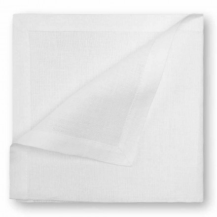 Natural or Cream White Linen Napkin Made in Italy, 2 pieces - Poppy