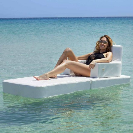 Trona basic modern floating armchair for pool, made in Italy