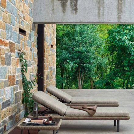 Garden sun bed for outdoor use, modern design, Babylon by Varaschin