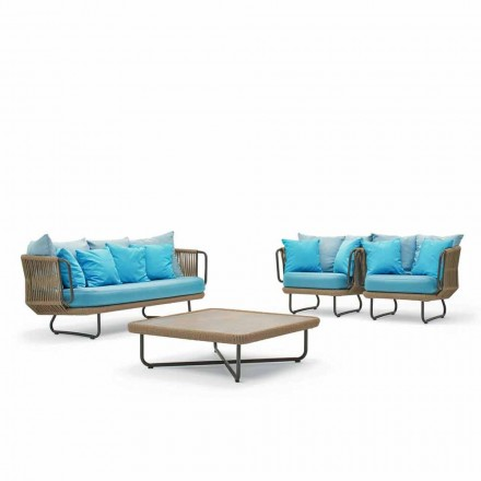 Outdoor conversation set, modern design, Babylon by Varaschin