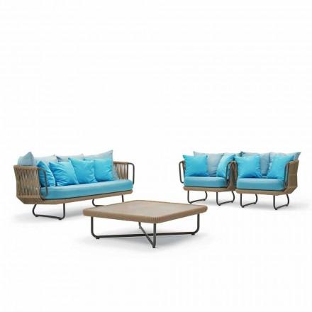 Outdoor conversation set, modern design, Babylon by Varaschin