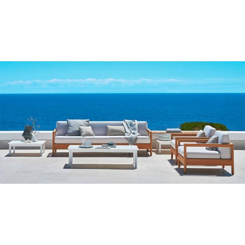 Sensational Modern 3 Seat Outdoor Sofa In Solid Teak Wood Bali By Varaschin Onthecornerstone Fun Painted Chair Ideas Images Onthecornerstoneorg