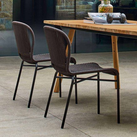 Outdoor dining chair with modern design,set of 2, Cricket by Varaschin