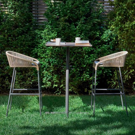 Varaschin Cricket outdoor high stool with a modern design, set of 2