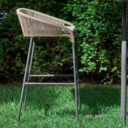 Modern design garden stool, set of 2 stools Cricket by Varaschin