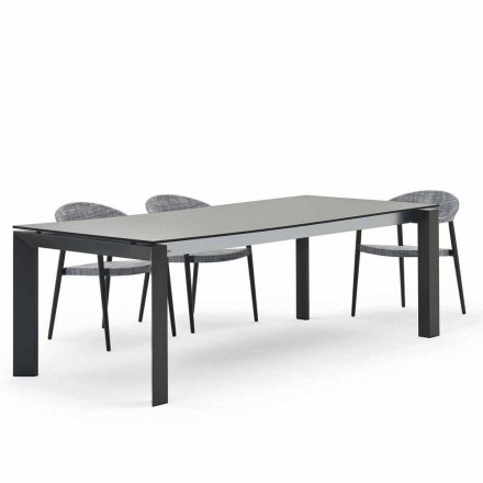 Outdoor dining table 240x100 cm, modern design, Dolmen by Varaschin