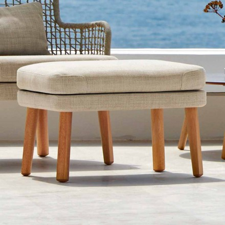 Design outdoor footrest in upholstered fabric Emma by Varaschin