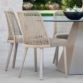 Design garden chair in fabric and aluminum, Emma by Varaschin