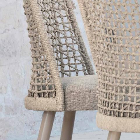 Varaschin Emma design garden chair in fabric and aluminum