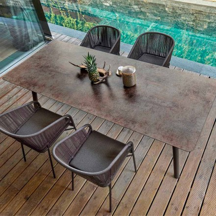 Outdoor / indoor dining table H65, modern design, Link by Varaschin
