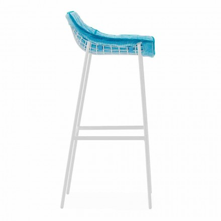 Summer Set outdoor stool made of steel and fabric by Varaschin