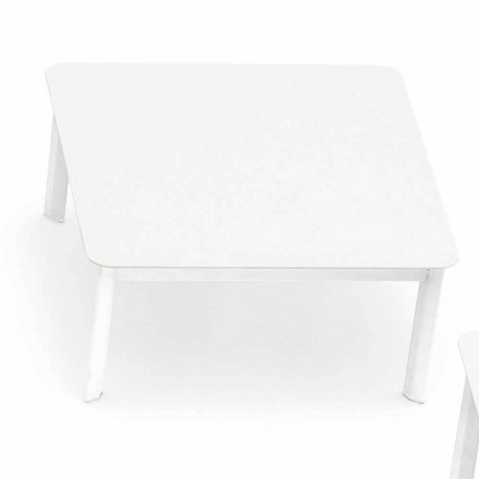Design outdoor coffee table in painted aluminum System by Varaschin