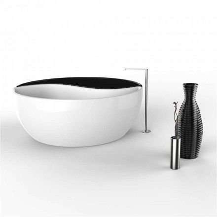 Modern design Solid Surface bathtub Bath Tao, made in Italy