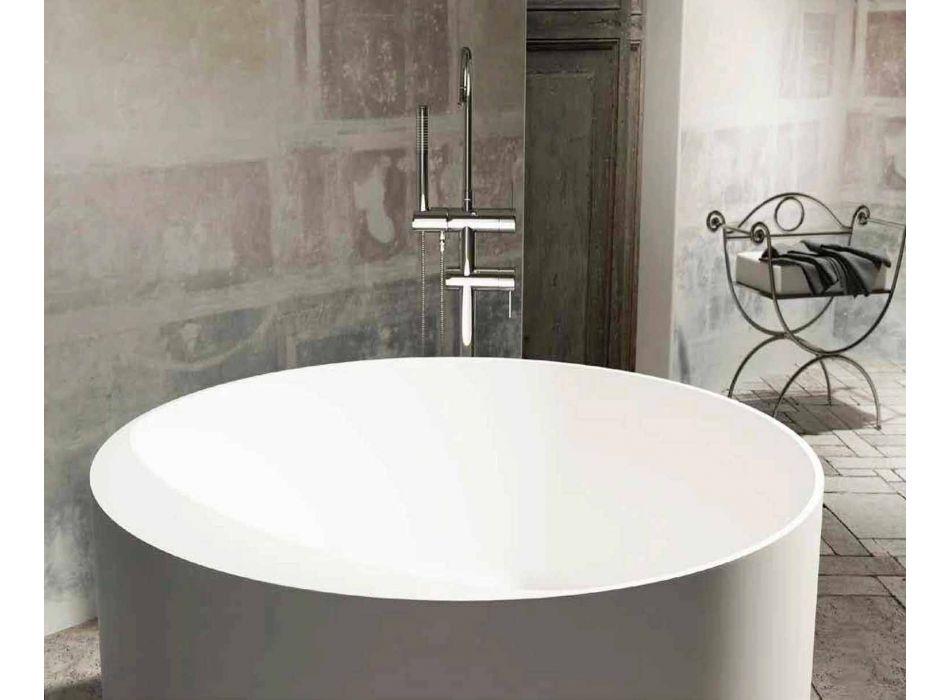 Round design freestanding bathtub made in Italy Cremona