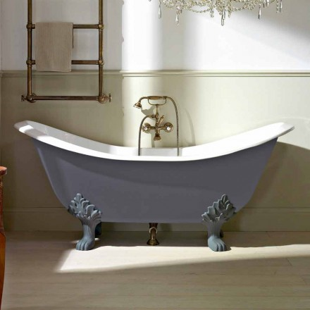 Vintage Freestanding Bathtub with Feet, in Cast Iron - Nadine