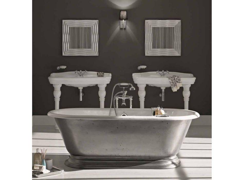 Bathtub in designer bathroom with cast iron Pierce gloss finish