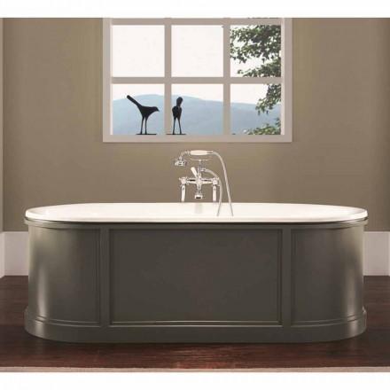 Vintage Ashley enamelled and painted cast iron bathtub