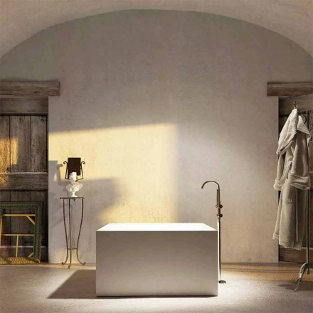 Freestanding square bathtub Argentera, produced 100 % in Italy