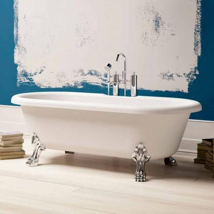 Design Free Standing Bathtub, Chrome Finish Feet – Free