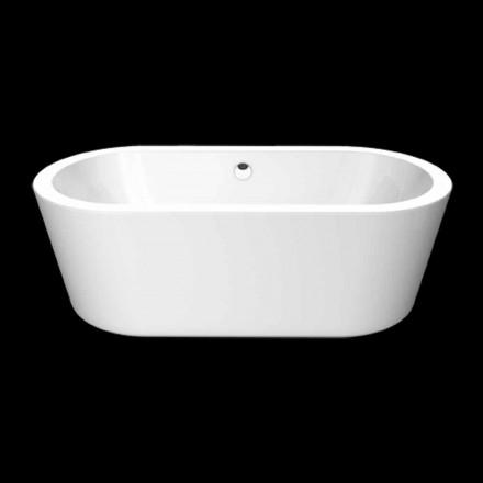Nicole Small white acrylic freestanding bathtub 1675x777 mm
